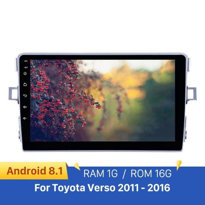 Lecteur multimédia de voiture de Navigation GPS 2din Android 9.1 Radio Auto 4 cœurs pour Toyota Verso 2011 2012 2013 2014 2015 2016