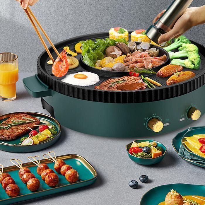Filet de marmite multifonction barbecue tout-en-un pot ménage plat de cuisson de style coréen, shabu-shabu, friture et cuisson