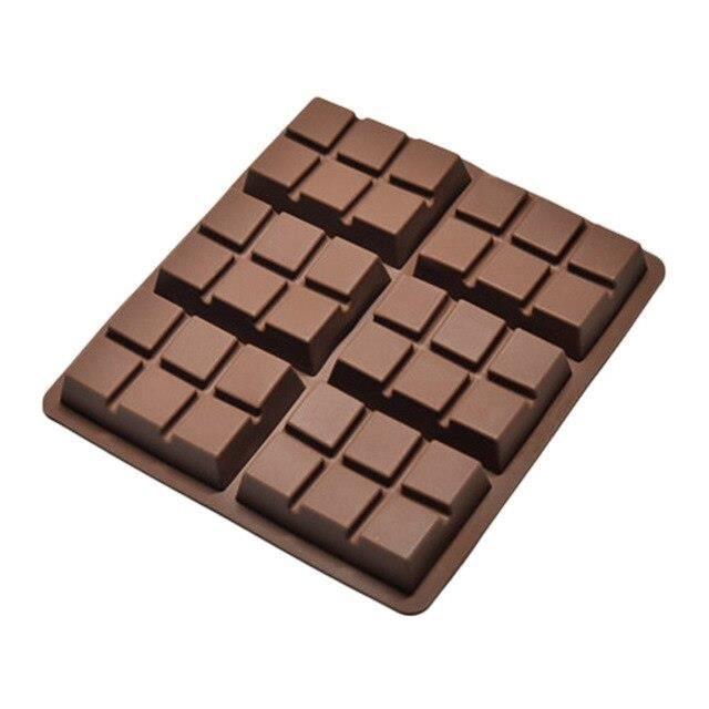 EX5963 Moule à chocolat 6 cellules barre moyenne bonbons professionnel Silicone Artisan moule gâteau silicone moule gâte