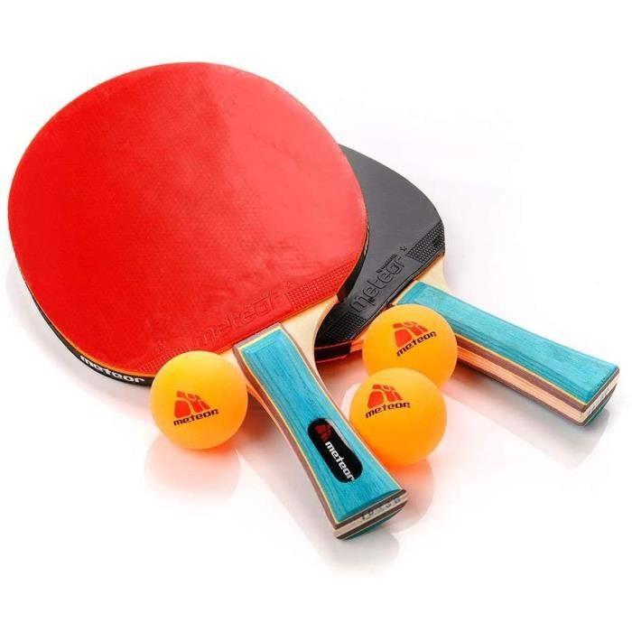 Ping Pong Table Tennis Pack de 2 Pagaies-Raquettes 3 Balles Allround Professionnel Amateur interm&eacutediaire et avanc&eacute61