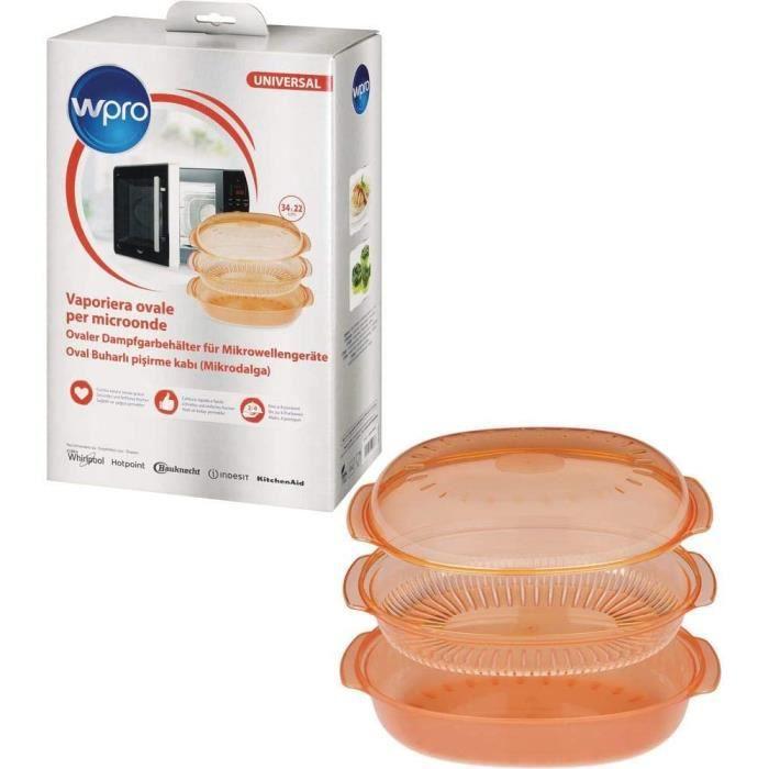 Grille de refroidissement pour gâteaux Wpro STM005 Plat Vapeur Ovale Easycook 2,5 L pour Fours Micro-ondes 34 x 20 cm A415
