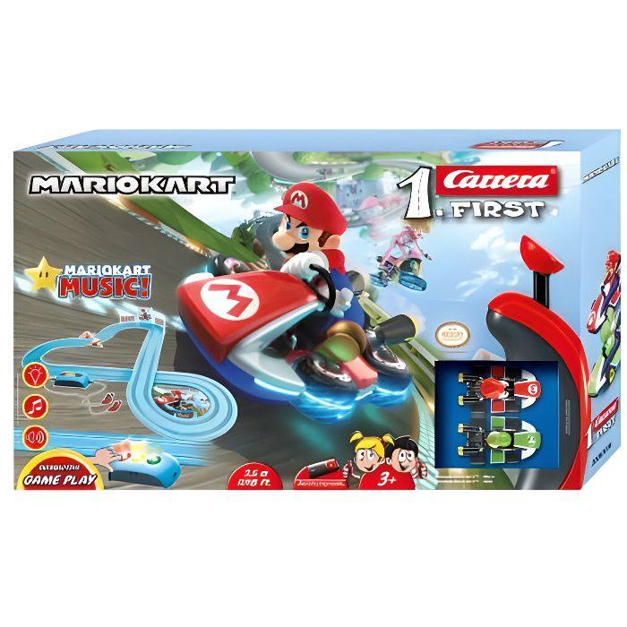 Circuit voitures Mario Kart - Royal Raceway - Dès 3 ans - Carrera First 63036