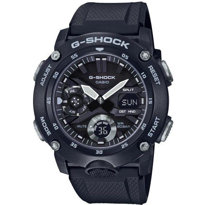 CASIO G-Shock Montre GA-2000S-1AER résistance aux chocs, chrono, compte à rebours, calendrier auto