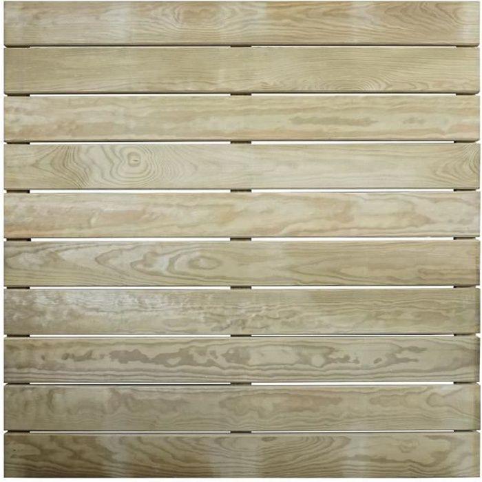 Dalle de terrasse en bois traitement autoclave classe IV- Epaisseur 44mm - 1000x1000 mm AMELIA -