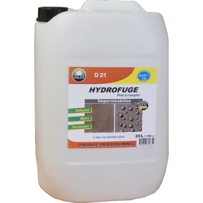 Hydrofuge Dalep D21 - Anti-taches pour pierre et toiture - 20 litres - 221 020