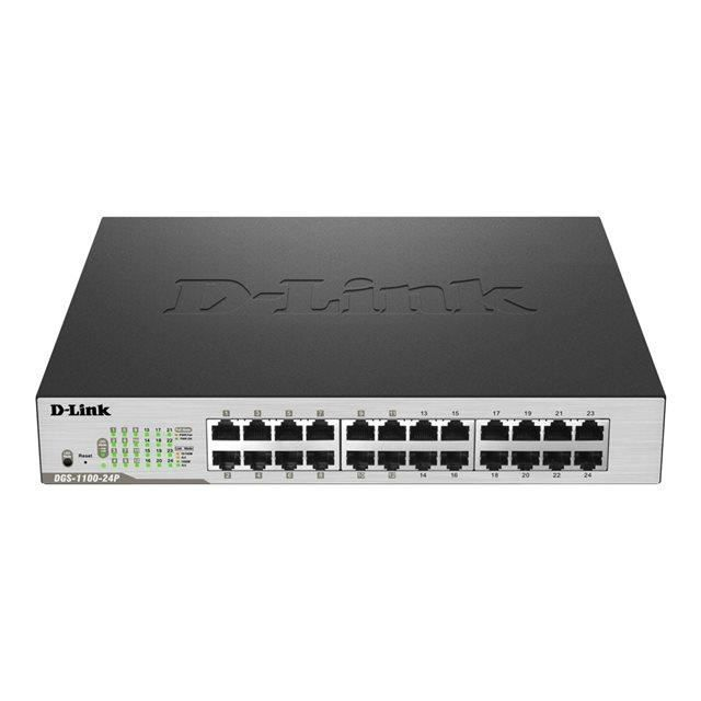 D-LINK Switch Easy Smart 24 ports - DGS-1100-24P -  10/100/1000Mbps, 12 ports 10/100/1000Mbps P?+,