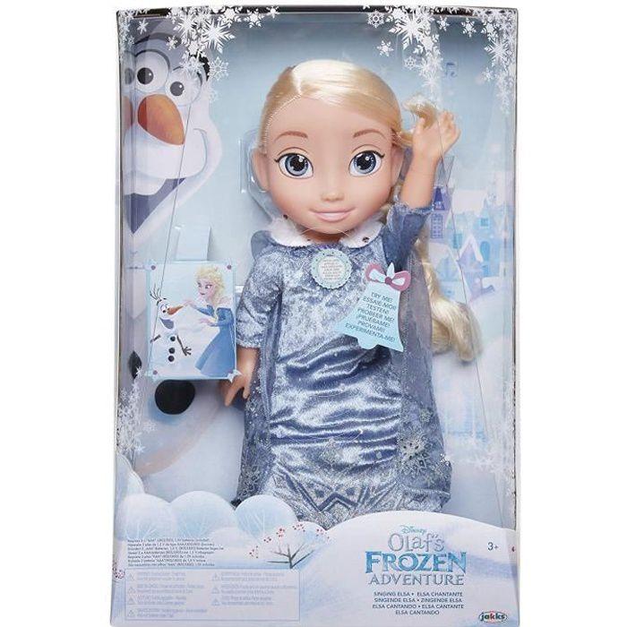 Poupee Jakks Pacific 72536 Chanson d'hiver avec Elsa la Reine des Neiges. En anglais