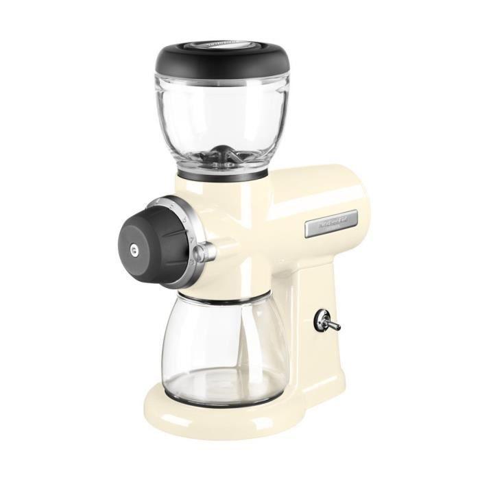 Kitchenaid - broyeur à café blanc/crème - 5kcg0702eac