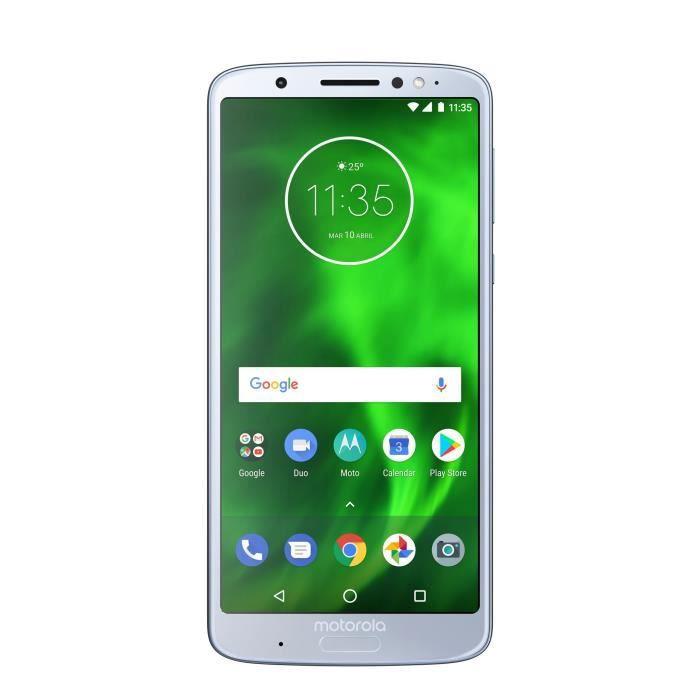 Motorola XT1926-3 Moto G6 Plus 4Go de RAM- 64Go Double Sim Argent