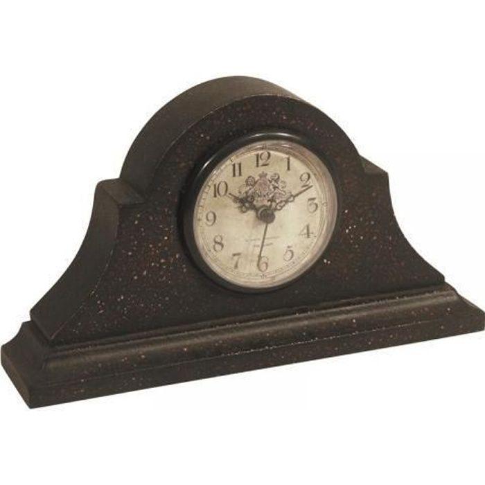 Horloge de cheminée en bois