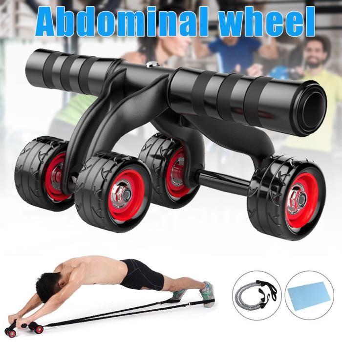 Roue Abdominale Roulette Fitness Musculation Roue l'entraînement des Abdominaux Roller A 4 Roues Abdominaux Appareil