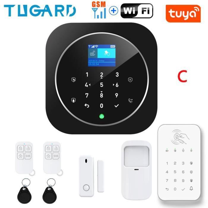 RUMOCOVO® Système d'alarme de sécurité domestique, wi-fi, GSM, carte RFID sans fil, anti-cambriolage version 5