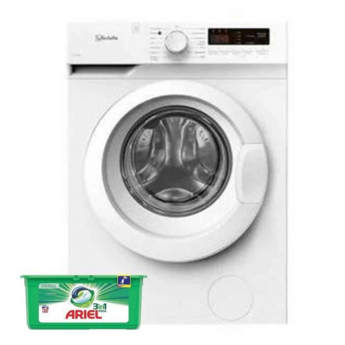 VEDETTE Lave-Linge Frontal 7kg 1400trs/min 15 Programmes Machine à laver hublot 50 Blanc