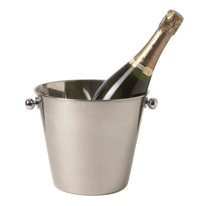 Seau à champagne en acier inoxydable 21,5 X 18 cm