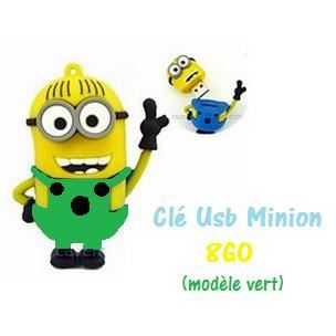 cl usb minion vert capacit 8go achat vente cl usb. Black Bedroom Furniture Sets. Home Design Ideas