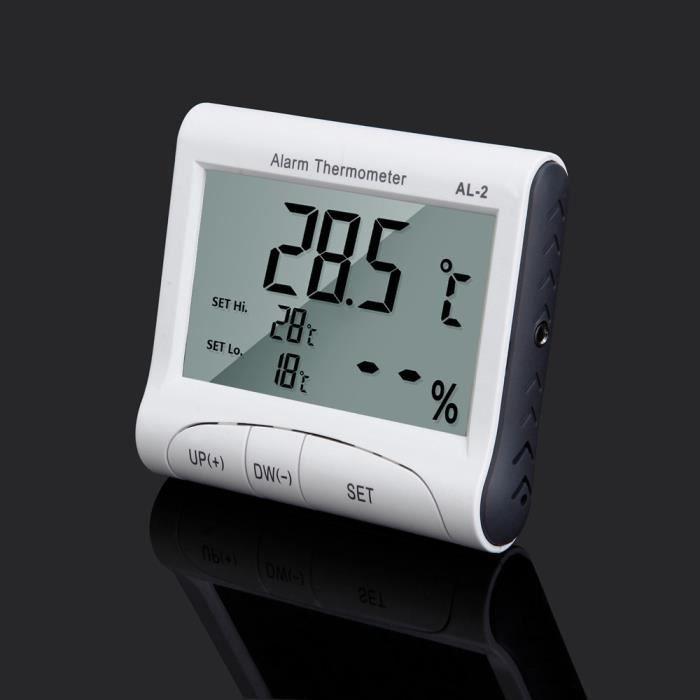 Hygromètre Température Humidité compteur LCD Horloge numérique thermomètre