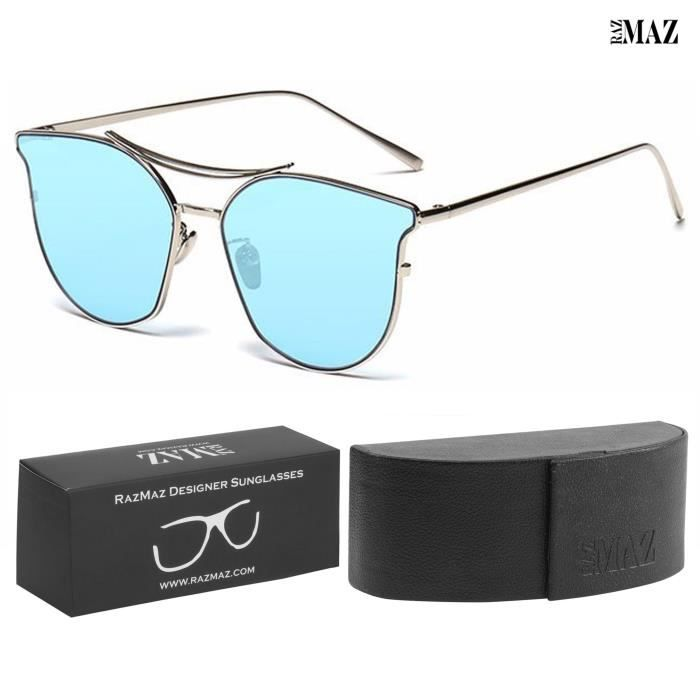 Mirror Vintage Sun-glasses For Latest Stylish - Design Polarized Metal Lenses With Case - Uv400 Prot M7652