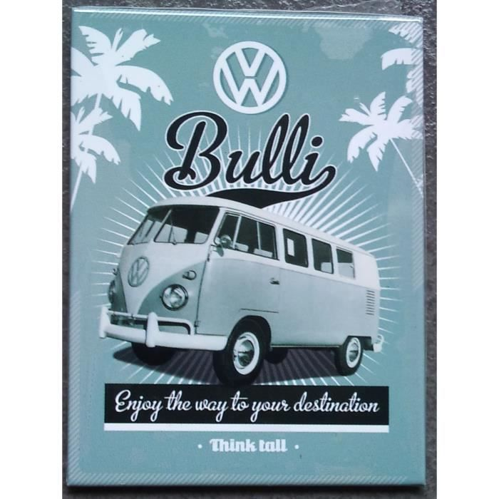 magnet frigo combi bus bully vw volkswagen 8x6 achat vente aimants magnets cdiscount. Black Bedroom Furniture Sets. Home Design Ideas