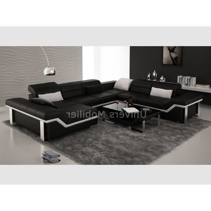 canap d 39 angle casanova table de salon assorti achat vente canap sofa divan cuir. Black Bedroom Furniture Sets. Home Design Ideas