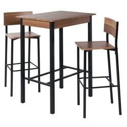 ensemble table haute et 2 tabourets de bar bari achat vente mange debout ensemble table. Black Bedroom Furniture Sets. Home Design Ideas