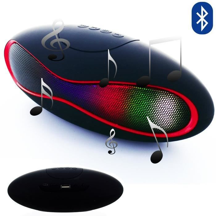 mini enceinte bluetooth rugby noir pour samsung galaxy. Black Bedroom Furniture Sets. Home Design Ideas