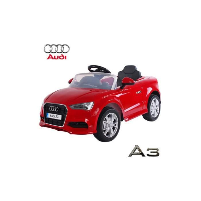 audi a3 voiture lectrique enfant rouge 12 volts 2 moteurs achat vente voiture enfant. Black Bedroom Furniture Sets. Home Design Ideas