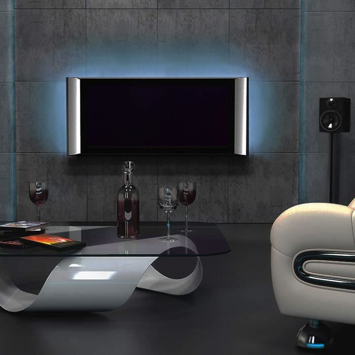 bandes led pour r tro clairage d 39 cran tv 24 42 avec t l commande 16 couleurs achat vente. Black Bedroom Furniture Sets. Home Design Ideas