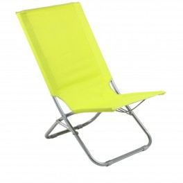 chaise de plage pliante pop avec repose tete vert achat. Black Bedroom Furniture Sets. Home Design Ideas