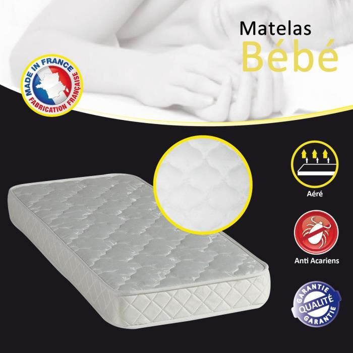 matelas b b 60x120 achat vente matelas cdiscount. Black Bedroom Furniture Sets. Home Design Ideas