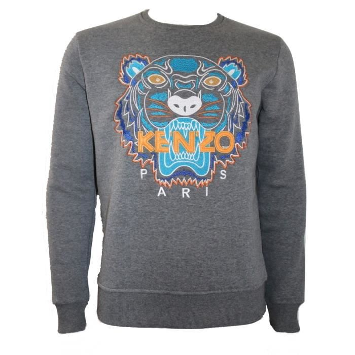 AUTHENTIQUE Sweat Kenzo Tigre Gris GRIS - Achat   Vente sweatshirt ... 986d0d56105