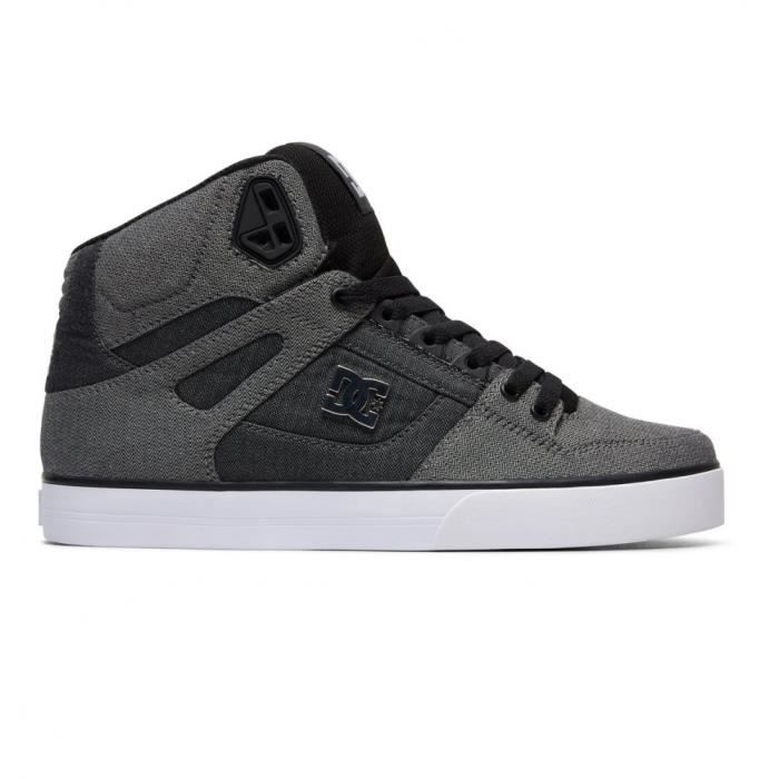 Chausures DC Pure High Top Wc Tx Se Grey White Grey Xsws