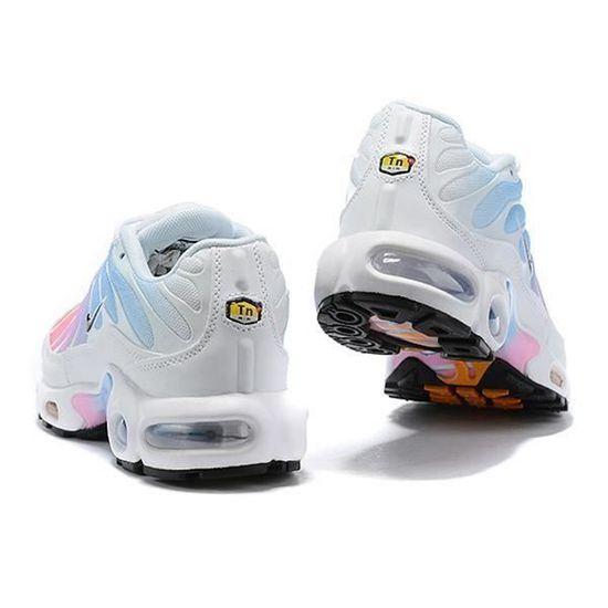 Basket Nike Air Plus TN Chaussures Blanc Rose Bleu pour Femme ...
