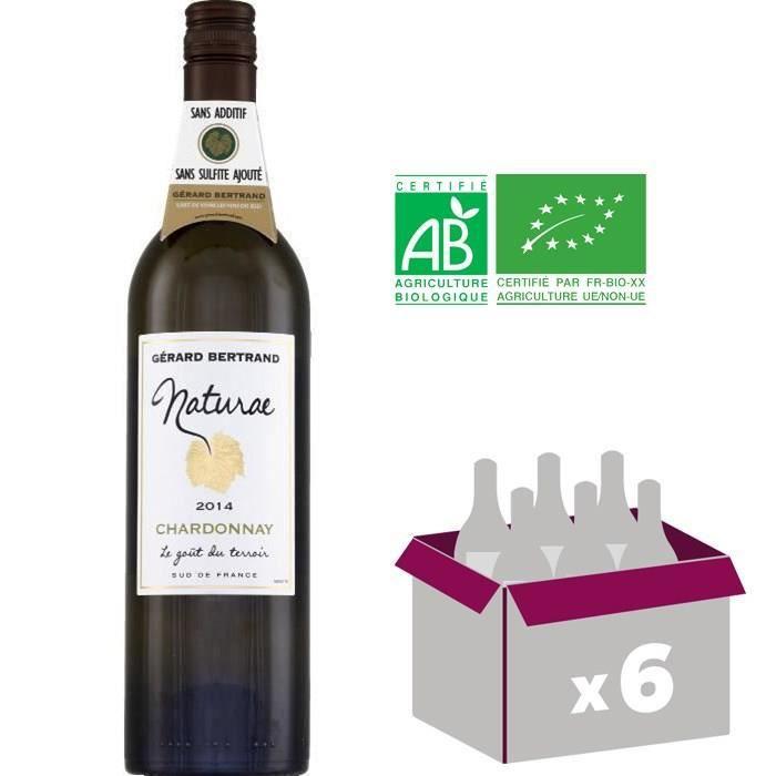 Naturae Chardonnay Bio 2015 Vin du Sud Ouest - Blanc - 75cl - IGP x6