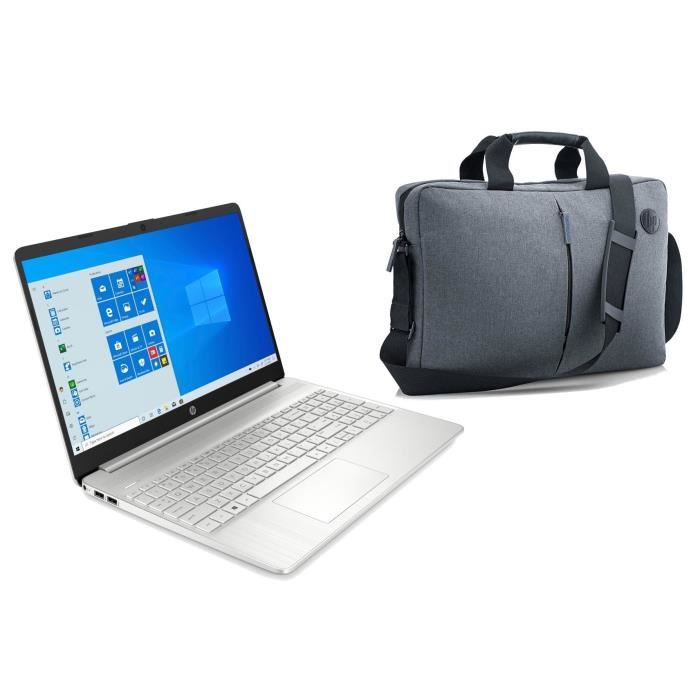 "Pack HP PC Portable 15S-FQ1036NF - 15""HD - i3-1005G1 - RAM 4Go - Stockage 256Go - Windows 10 +"