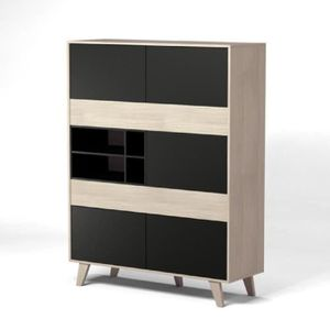 buffet chene blanc achat vente buffet chene blanc pas cher cdiscount. Black Bedroom Furniture Sets. Home Design Ideas