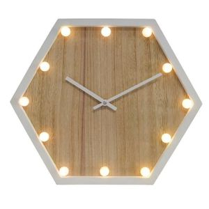 HORLOGE - PENDULE LUMINA Horloge lumineuse - Bois et blanc