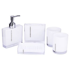 SET ACCESSOIRES 5pcs/set Accessoires de salle de bain en acrylique