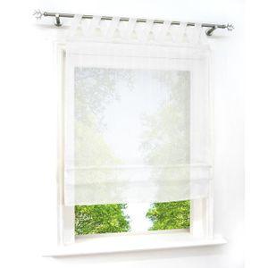 STORE DE FENÊTRE Store Romain Semi-transparent Coton-lin LxH-80x140