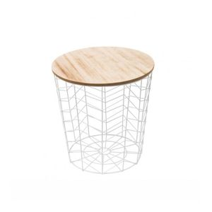 TABLE BASSE Table filaire blanche chevron-The home deco factor