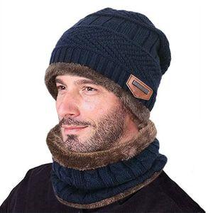 BONNET - CAGOULE Bonnet d'hiver Chaud Écharpe Chapeau Tricoté, Hive