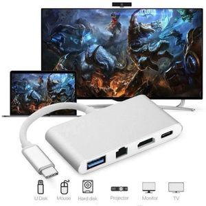 ADAPTATEUR ACQUISITION 2018 Nouveau USB C vers HDMI 4K + RJ45 Gigabit Eth