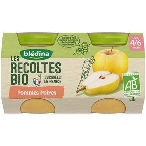 DESSERT FRUITS BÉBÉ BLEDINA Petits pots pommes poires Les récoltes Bio