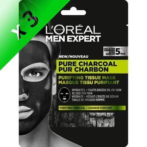 MASQUE VISAGE - PATCH L'Oréal Paris MEN EXPERT PUR CHARBON Masque Tissu