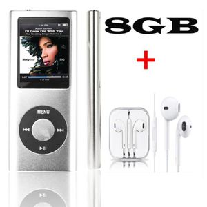 LECTEUR MP4 FULOZO® 8GO-Lecteur MP4/MP3 Style iPod Player Medi