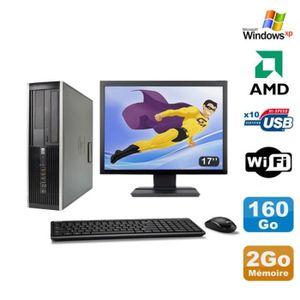 UNITÉ CENTRALE + ÉCRAN Lot PC HP Compaq 6005 Pro SFF AMD 3GHz 2Go 160Go G