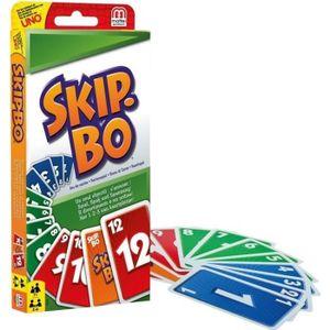 CARTES DE JEU SKIP-BO Jeu de cartes - 2 à 6 joueurs - 7 ans et +