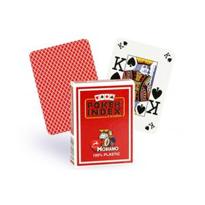 CARTES DE JEU Cartes Poker Index 100% plastique (rouge)