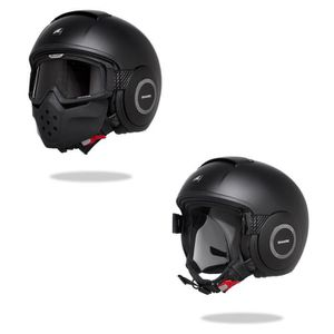 CASQUE MOTO SCOOTER SHARK Casque moto Jet SHARK Drak Noir mat