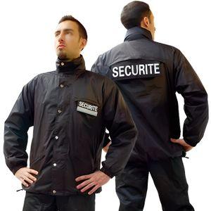 BLOUSON PRO Blouson noir agent de sécurité o…