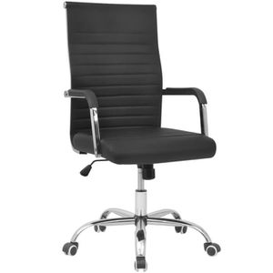 CHAISE DE BUREAU Chaise de bureau en cuir artificiel 55x63 cm noir
